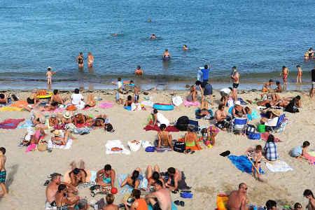 A la plage en vacances